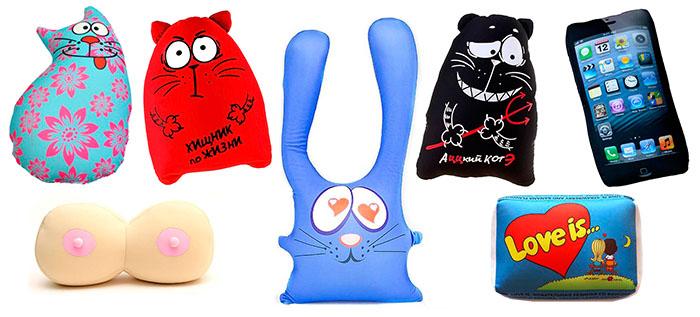 Подушки-мнушки - игрушки антистресс